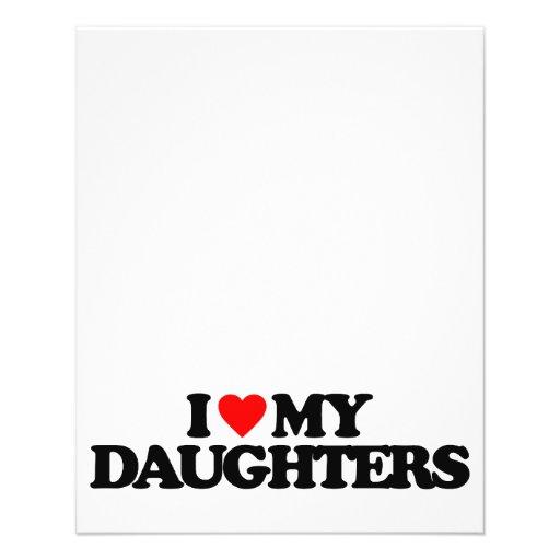 I LOVE MY DAUGHTERS CUSTOM FLYER