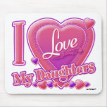 I Love My Daughters pink/purple - heart