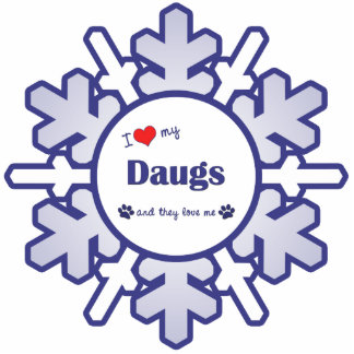 I Love My Daugs (Multiple Dogs) Photo Sculpture Decoration