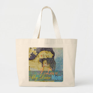 I love my dear mum  artistic mother and child bags