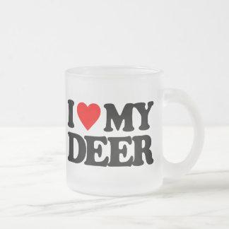 I LOVE MY DEER COFFEE MUGS