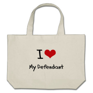I Love My Defendant Tote Bags