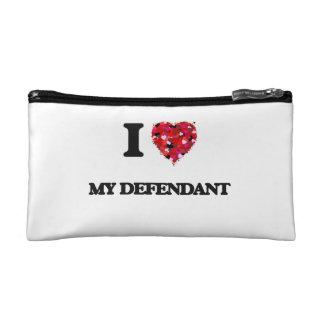 I Love My Defendant Makeup Bags