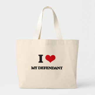 I Love My Defendant Jumbo Tote Bag