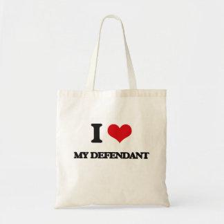 I Love My Defendant Budget Tote Bag