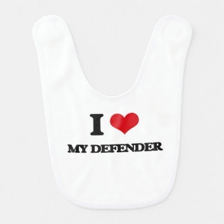I Love My Defender Bib