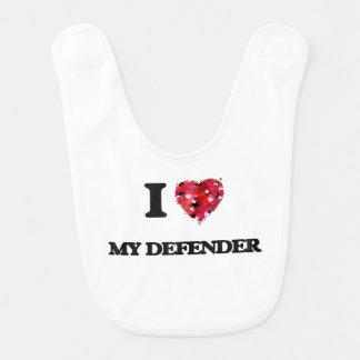 I Love My Defender Bibs
