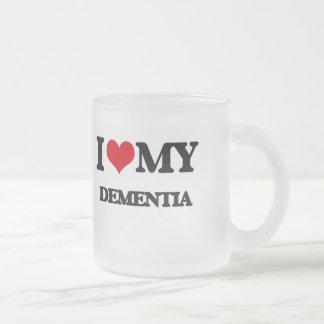 I Love My DEMENTIA Frosted Glass Mug