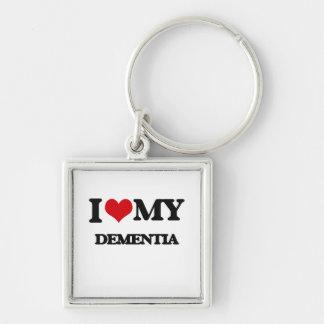 I Love My DEMENTIA Key Chain