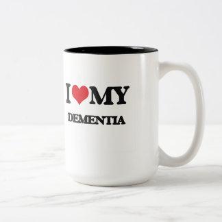 I Love My DEMENTIA Two-Tone Mug