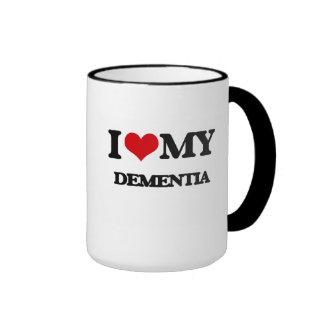 I Love My DEMENTIA Ringer Mug