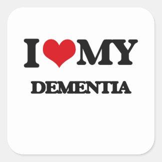 I Love My DEMENTIA Sticker