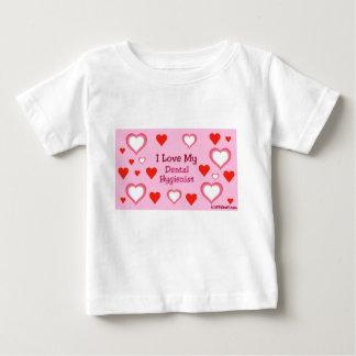 I Love My Dental Hygienist - Hearts Baby T-Shirt