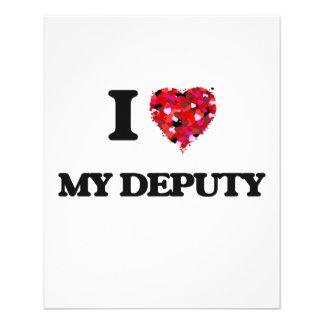 I Love My Deputy 11.5 Cm X 14 Cm Flyer