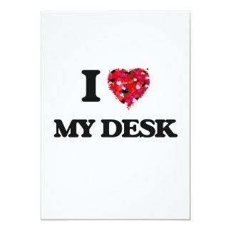 I Love My Desk 13 Cm X 18 Cm Invitation Card