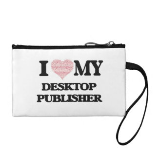 I love my Desktop Publisher (Heart Made from Words Coin Wallet