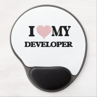 I love my Developer (Heart Made from Words) Gel Mouse Pad