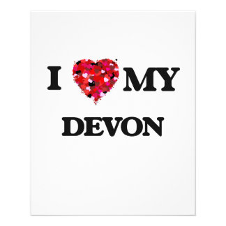 I love my Devon 11.5 Cm X 14 Cm Flyer