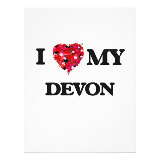 I love my Devon 21.5 Cm X 28 Cm Flyer