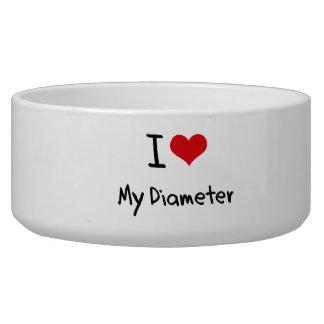 I Love My Diameter Dog Water Bowls