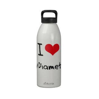 I Love My Diameter Reusable Water Bottles