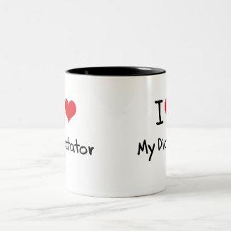 I Love My Dictator Two-Tone Mug
