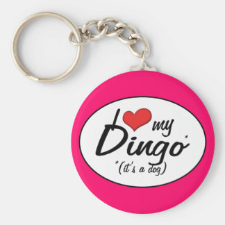 I Love My Dingo (It's a Dog) Key Ring