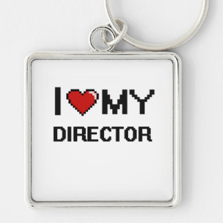 I love my Director Silver-Colored Square Key Ring