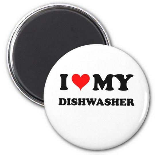 I Love My Dishwasher 6 Cm Round Magnet