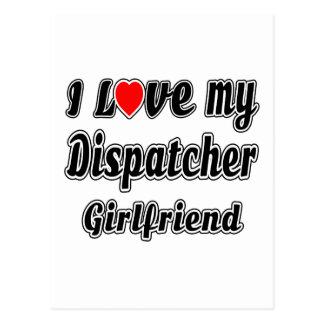 I Love My Dispatcher Girlfriend Postcard