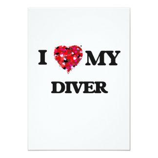 I love my Diver 13 Cm X 18 Cm Invitation Card