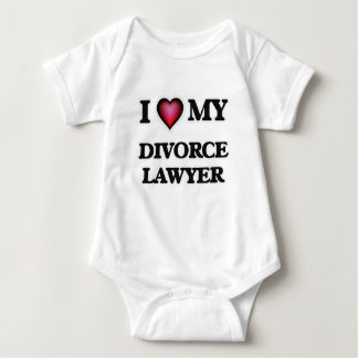 I love my Divorce Lawyer Baby Bodysuit