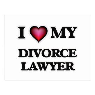 I love my Divorce Lawyer Postcard