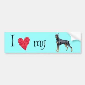 I Love my Doberman Bumper Sticker