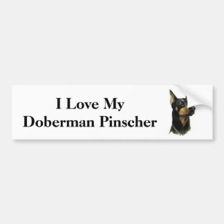 I Love my Doberman Pinscher Bumper Sticker