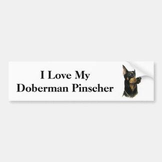 I Love my Doberman Pinscher Bumper Stickers