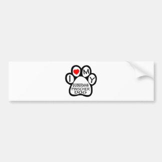 I Love My Doberman Pinscher Dog Bumper Sticker