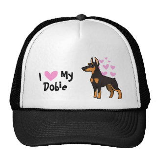 I Love My Doberman Pinscher (pointy ears) Cap