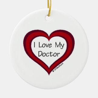 I Love My Doctor Christmas Ornament