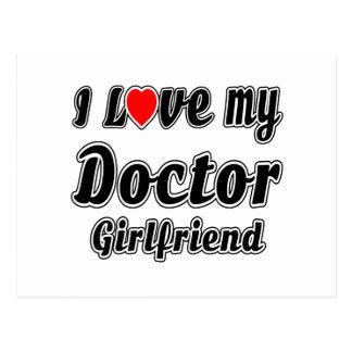 I Love My Doctor Girlfriend Postcard
