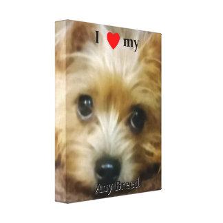 I love my dog breed canvas prints