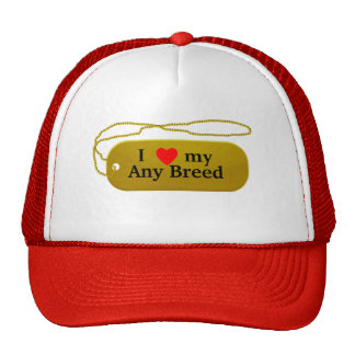 I love my dog breed cap