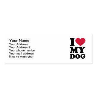 I love my dog business card template