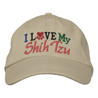 I Love My Dog Embroidered Hats