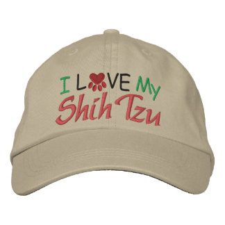 I Love My Dog Embroidered Hat