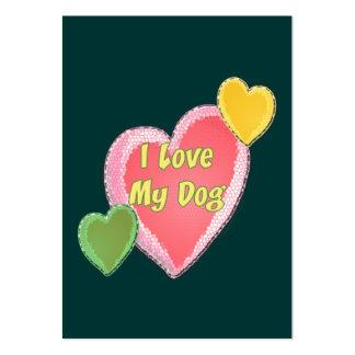 I Love My Dog Heart Business Card Templates
