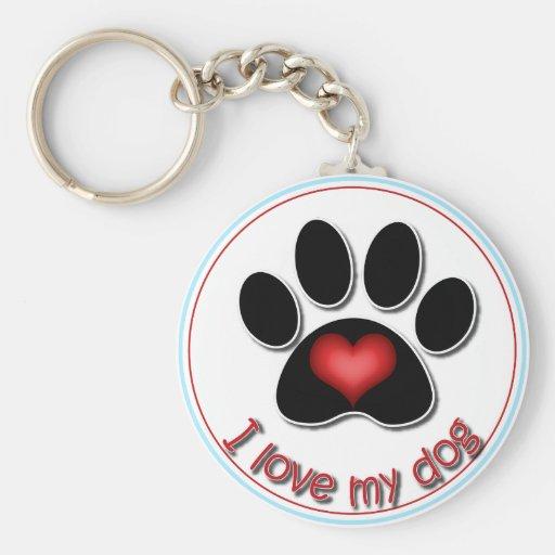 I Love My Dog Key Chains