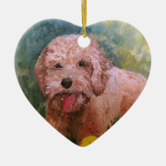I love my dog Oranament Goldendoodle /Labradoodle. Christmas Ornament