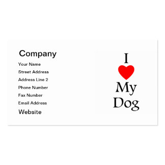 I Love My Dog Pack Of Standard Business Cards