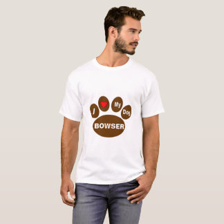 I Love My Dog Personalize T shirt
